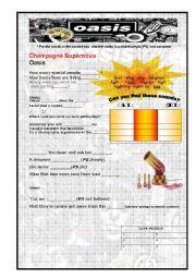 English Worksheets: Champagne Supernova OASIS