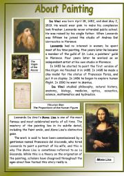 English Worksheet: About Painting - Leonardo Da Vinci