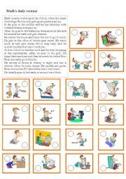 English Worksheets: mark�s daily routine - listening/ reading