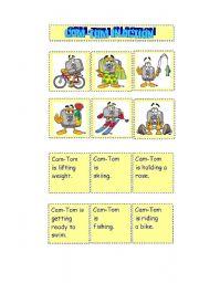 English Worksheets: CAM-TOM IN ACTION SET 1