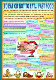 English Worksheet: To Eat Or Not To Eat... Fast Food
