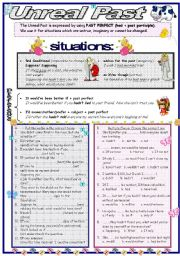 English Worksheet: Unreal Past: Past Perfect