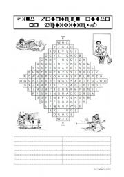 English Worksheets: Outdoor Activities - Wordsearch Puzzle