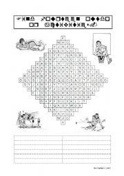 English Worksheet: Outdoor Activities - Wordsearch Puzzle