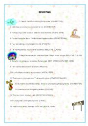English Worksheets: REWRITING UPPER INTERMEDIATE (2nd part)