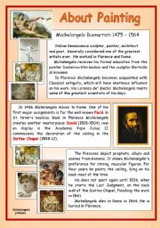 English Worksheets: About Painting - Michelangelo