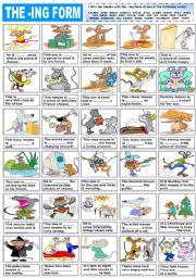 English Worksheet: THE -ING FORM