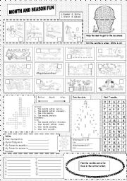 English Worksheet: Month and season fun.