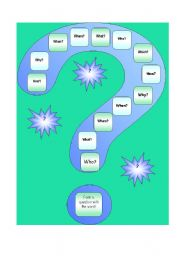 English Worksheets: Questions Gameboard