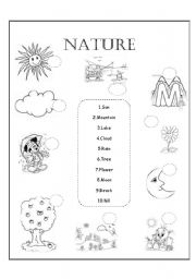 Nature - worksheet by Amy Gonzalez