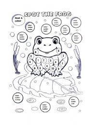 English Worksheet: SPOT THE FROG