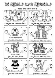 English Worksheets: Is this... Are these...? series (2/7)