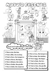 English Worksheets: Maya�s friends (this / that)