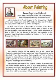 English Worksheets: About Painting - Jean-Baptiste Debret