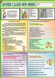 English Worksheets: Adverb clause with