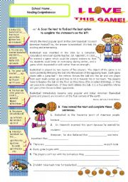 i love this game reading comprehension on basketball for upper elementary and lower. Black Bedroom Furniture Sets. Home Design Ideas