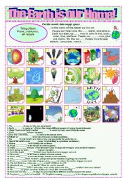 English Worksheet: Our home is our Earth!