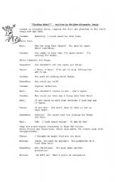 English Worksheet: ROLE PLAY SCRIPT: