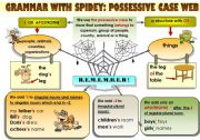 EASY GRAMMAR WITH SPIDEY: POSSESSIVE CASE WEB - FUNNY GRAMMAR-GUIDE FOR YOUNG LEARNERS IN A POSTER FORMAT (part 3)