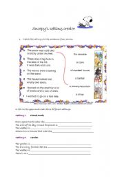 English Worksheets: snoopy setting creator (part 3 of 3)