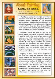 English Worksheets: About Painting - Tarsila do Amaral