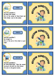 English Worksheets: ASKING FOR ANG GIVING INFORMATION ABOUT DIRECTIONS - GAME (PART 2)