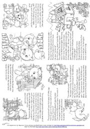 English Worksheet: Three Little Pigs (Story Mini Book)