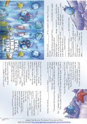 English Worksheet: The Rainbow Fish (Story mini Book)