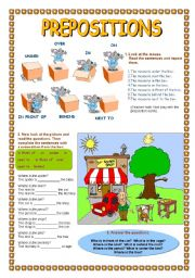 English Worksheet: Prepositions worksheet