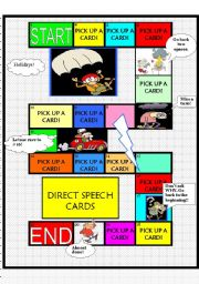 English Worksheet: REPORTED SPEECH GAME