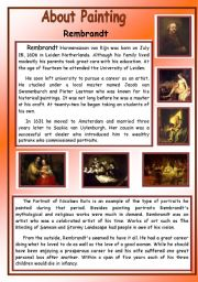 English Worksheets: Abouto Painting - Rembrandt