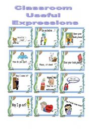 English worksheet: Classroom Useful Expressions