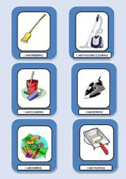 English Worksheets: CHORES GO AND GET IT CARD GAME! COLOUR + B&W VERSIONS (3 PAGES)