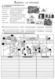 Worksheet Kitchen Safety Worksheets www eslprintables com espreviewprintables2009no