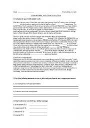 English Worksheet: �A Beautiful Mind� follow up sheet