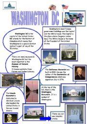 English Worksheet: washington dc