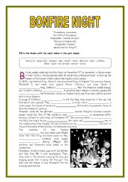 english teaching worksheets bonfire night. Black Bedroom Furniture Sets. Home Design Ideas