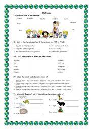 English Worksheet: Mafalda Video Activities
