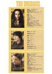 New moon characters - speaking cards 1/5