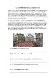 English Worksheets: SAN FERM�N