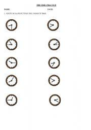 English worksheet: the time