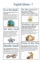 English Idioms - I