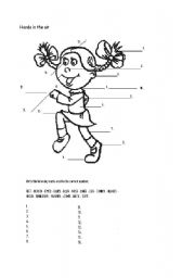 English Worksheets: Hands in the air