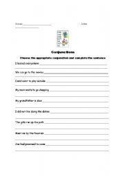 English Worksheets: Conjunction Worksheet