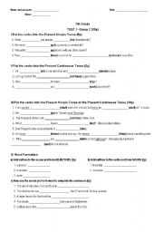 Printables 7th Grade Grammar Worksheets english teaching worksheets 7th grade test 2009 group 2 with key