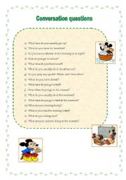 general english conversation questions answers pdf