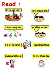 English Worksheets: teeth and if conditionals