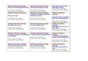 English Worksheet: Figurative Language: Game  part 1