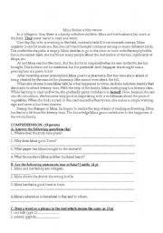 English Worksheets: Mina Smiles