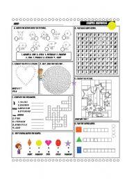 English Worksheets: Shapes Madness